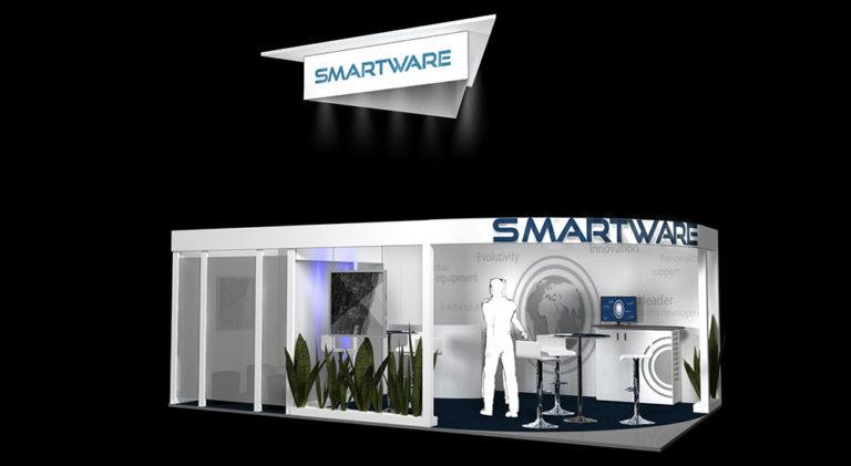 maquette 3D stand Smartware
